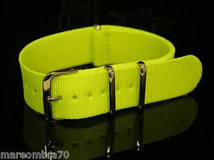 Cinturino-NATO-Tinta-Unita-Giallo-Fluo-RV172