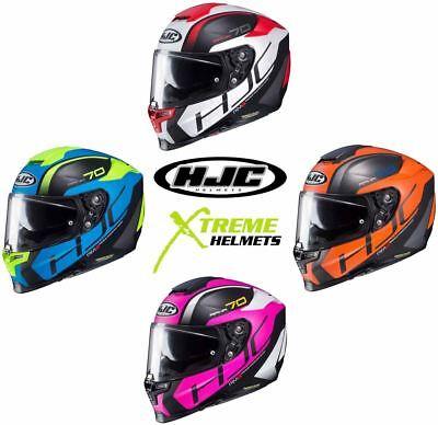 Black//Blue//Yellow HJC RPHA 70 VIAS MC2SF Motorcycle Helmet Size L