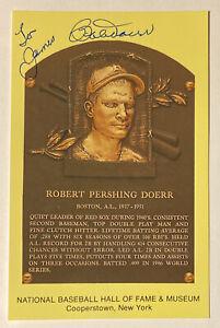 Bobby Doerr HOF Plaque Postcard Autographed