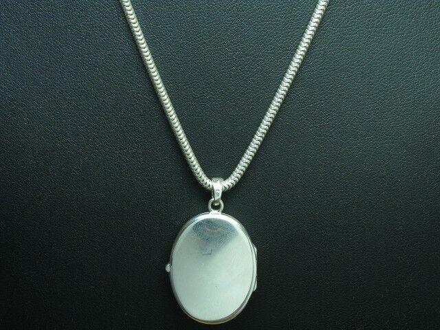 925 Sterling silver Kette & Medallion Anhänger   Echtsilver   45cm   15,5g