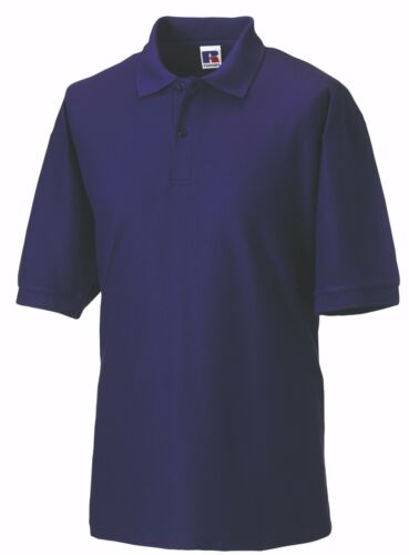 Russell 539M Polyester Cotton School Workwear Casual Sports Polo Shirts XS-6XL
