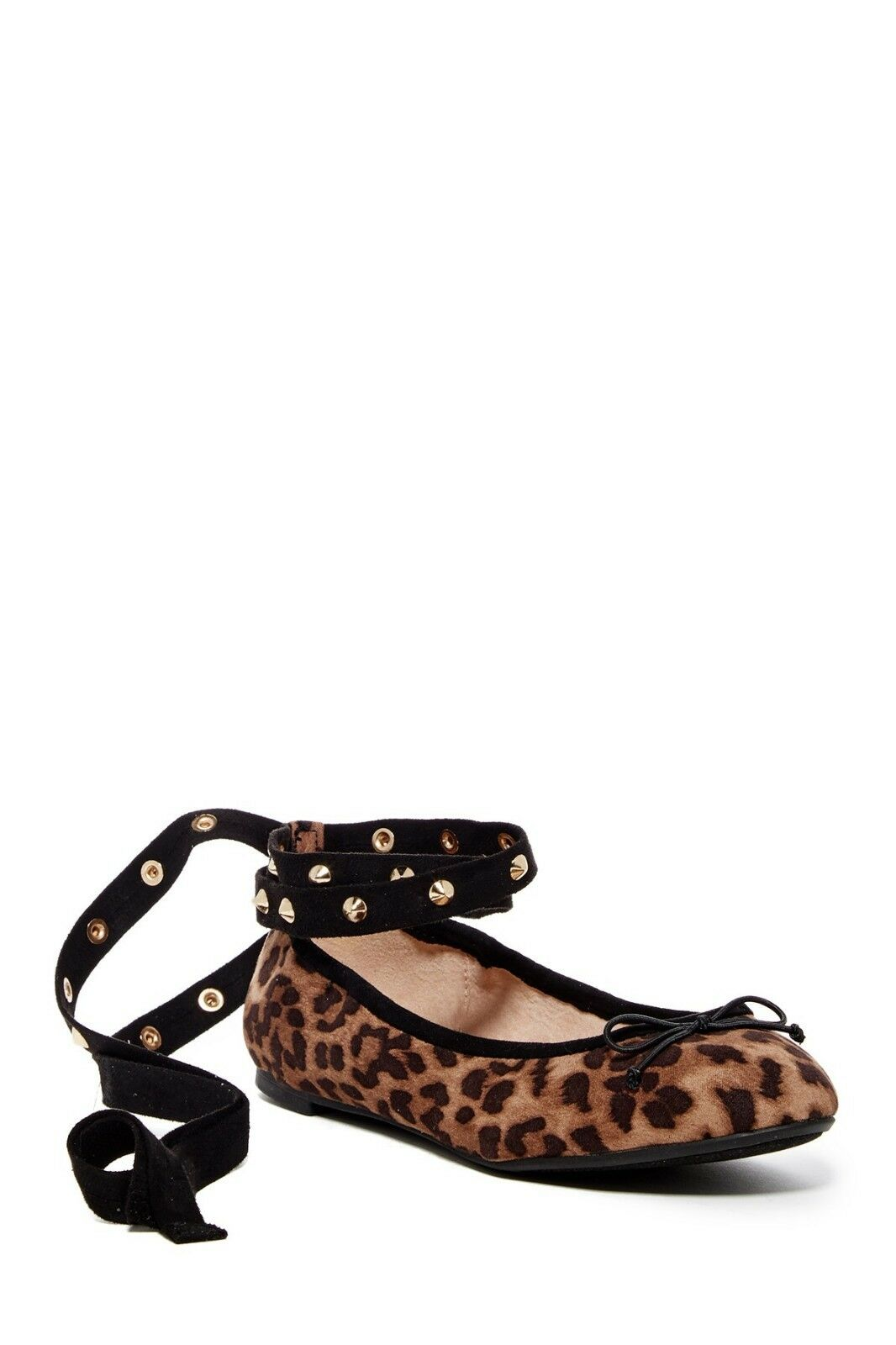 New CIRCUS BY SAM EDELMAN Celyn Studded Lace-Up Ballet Flat Scarpe size 8