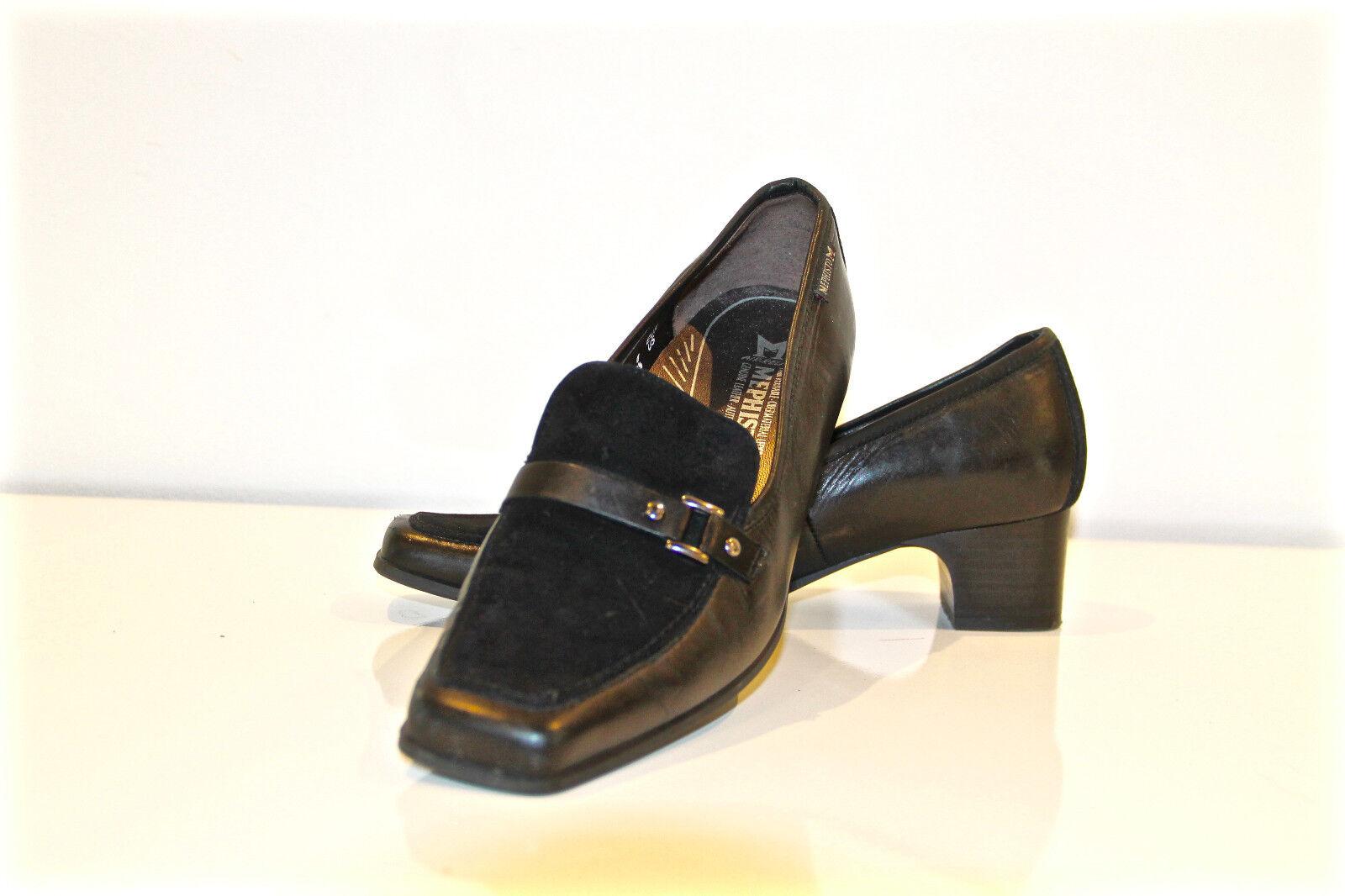 MEPHISTO AIR RELAX lujoso zapatos de salón de piel piel piel y nubuck negro P 39 US 8 1/2 597bda