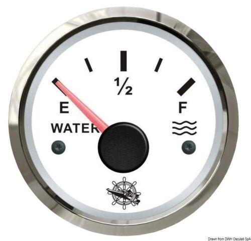 Indicatore livello acqua 240 33 Ohm bianco lucida