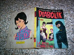 DIABOLIK-ANNO-VII-7-SETTIMO-ORIGINALE-N-9-DEL-1968-BUONO-KRIMINAL-SATANIK