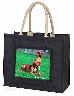 Ungarischer Vorstehhund Hunde  Soulmates  große schwarze Einkaufstasche