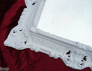 Espejos 100% Quality Espejo De Pared 45x38cm Antiguo Barroco Réplicas Rectangular En Blanco 345 88