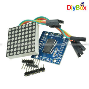 Details about 8x8 3mm/5mm Dot Matrix Display Red/Full Color RGB LED MAX7219  DIY Kit f/ Arduino