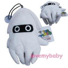 NEW Super Mario Bros Blooper Blooper 16cm Soft Plush Doll Toy White Kids Gift