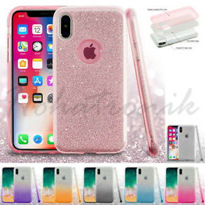 super popular 6d0c7 eec1d Details about Apple iPhone 10 Xs Max Hybrid Bling Glitter Rubber Protective  Soft Case Cover