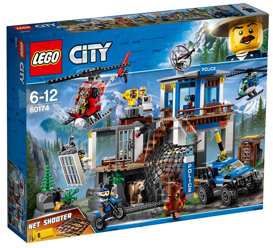 LEGO CITY POLICE 60174  QUARTIER GENERALE DELLA POLIZIA DI MONTAGNA   NUOVO