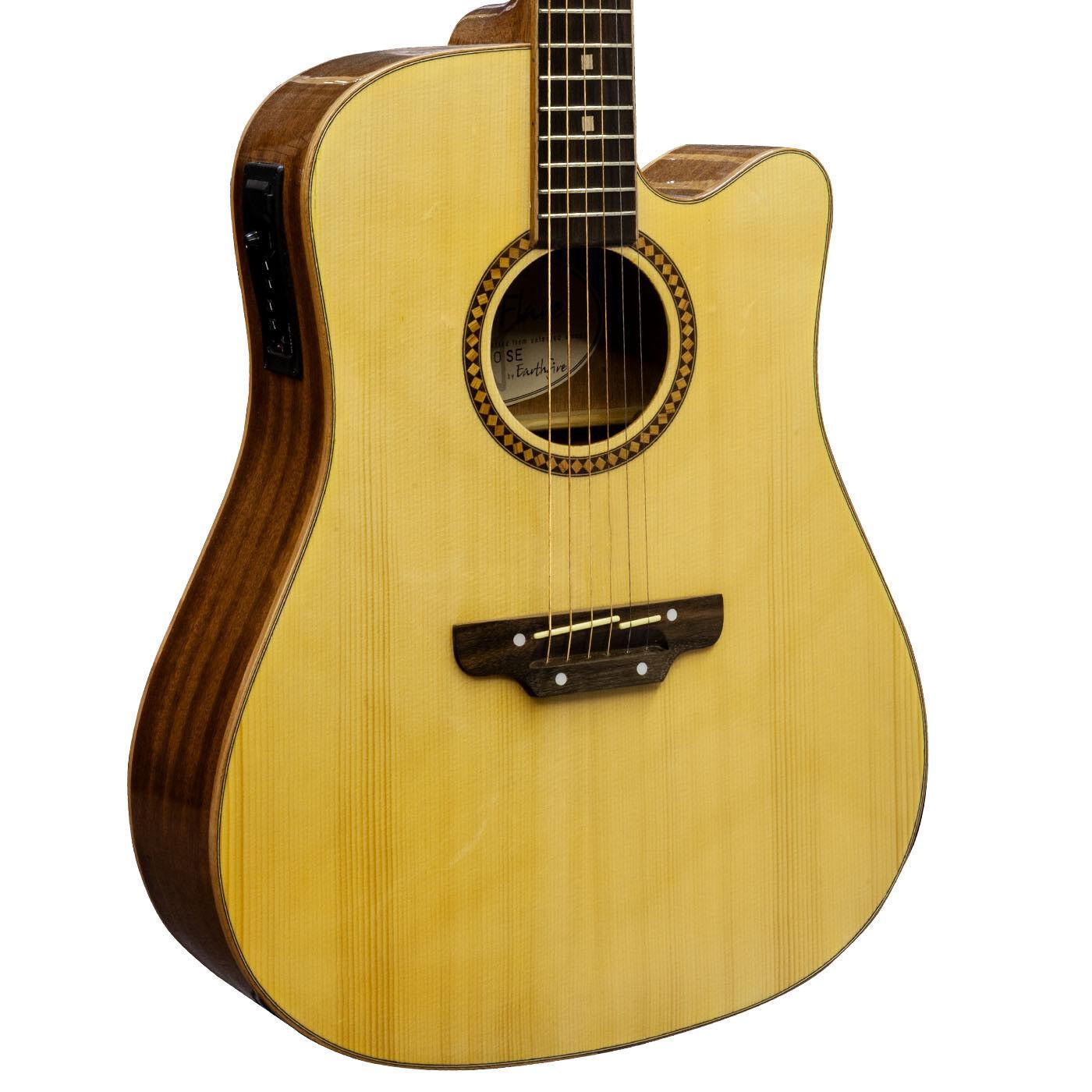 Earthfire GA6090SE Guitarra Acústica Jumbo Electro Electro Jumbo Cadena De Acero Top Solid Cutway C d840e8