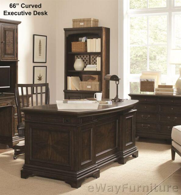 Stratford 66 Inch Curved Executive Desk Hardwood Home Office Furniture Online