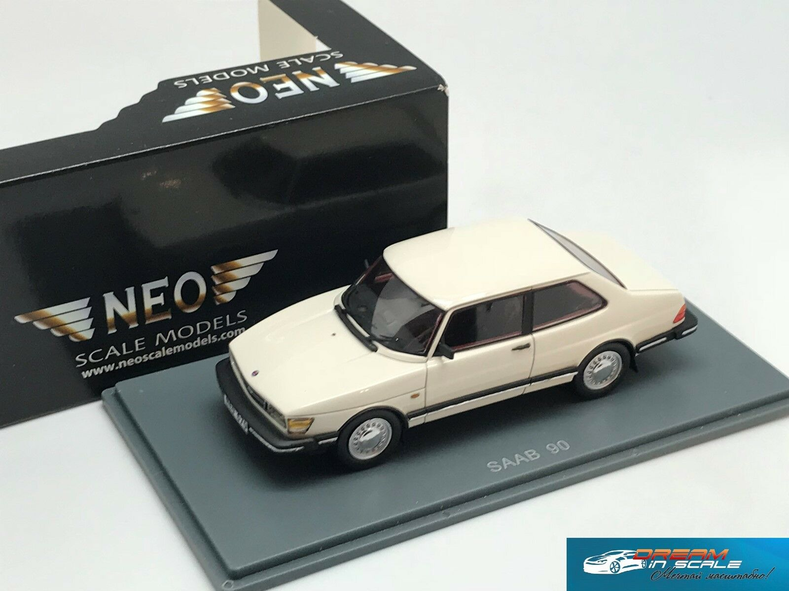 Raro Saab 90 Blanco Neo 43670 1:43