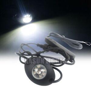 "2.28"" 6 W LED Hide Away Emergency Patrol Truck Warning Flash Strobe Light White"