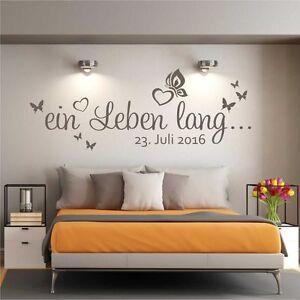 Wandtattoo Wandsticker Wandaufkleber Schlafzimmer Ein Leben lang ...