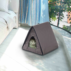 PawHut-Heated-Kitty-House-Outdoor-Pet-Cat-Bed-Cage-Warm-Cando-Water-resistant