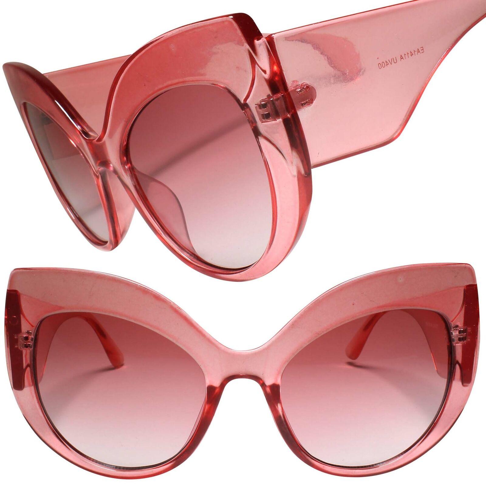 Classic Retro Rockabilly Oversized Fashion Womens Cat Eye Pink Sunglasses