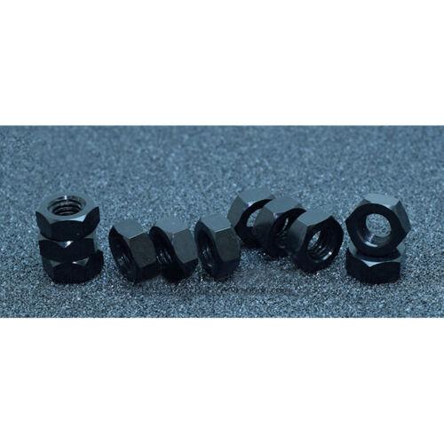 10X Set M3 M4 M5 M6 Hex Screw Nuts 6061 Aluminum Alloy Bolt Nut DIN934 DIY Craft
