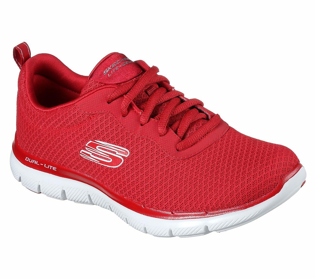 Skechers Red shoes Women Memory Foam Sport Train Walk Comfort Casual Mesh 12775