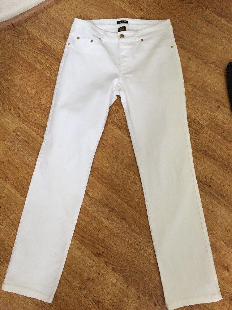 IMAN NEW  GORGEOUS White Cotton Spandex Skinny Stretch Legging Jeans Sz S NWOT
