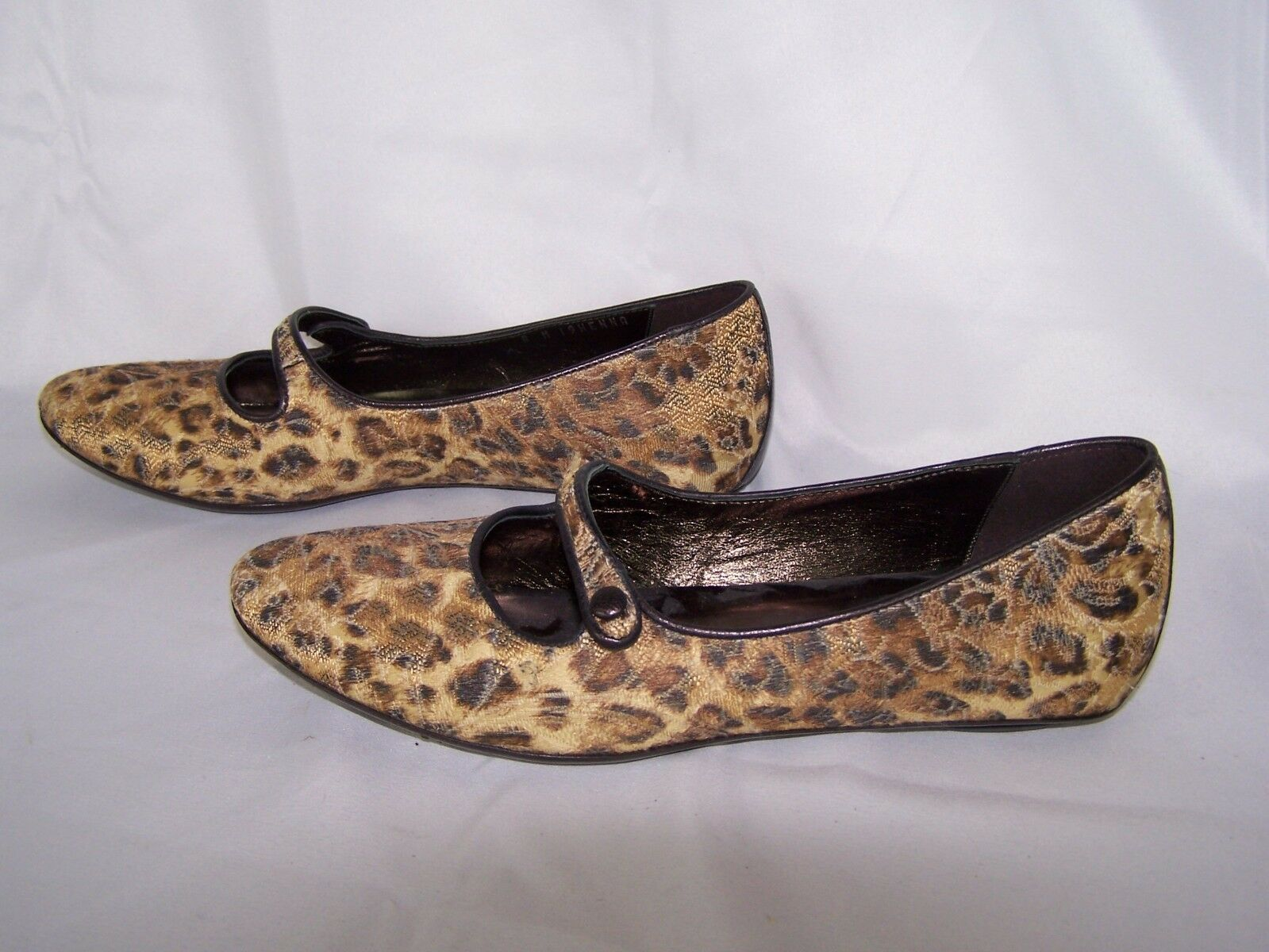 Donald J. Pliner Couture Animal Print Henna Mary Jane Flats Shoes Women's 8 M