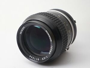 Excellent-Nikon-Nikkor-Ai-105mm-f-2-5-MF-Lens-Portrait-Telephoto-from-Japan