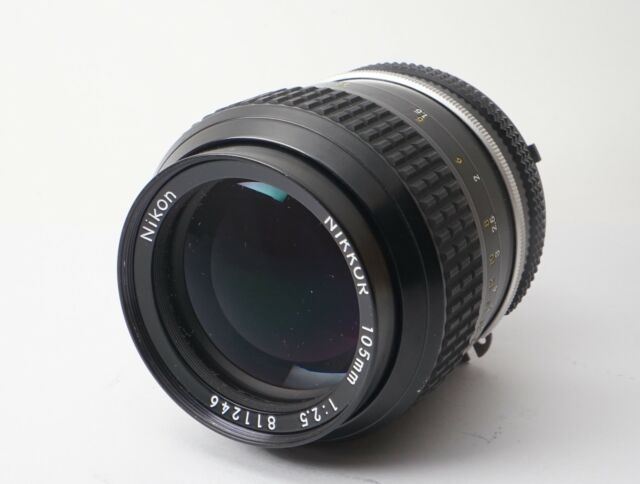 Excellent+++++ Nikon Nikkor Ai 105mm f/2.5 MF Lens Portrait Telephoto from Japan