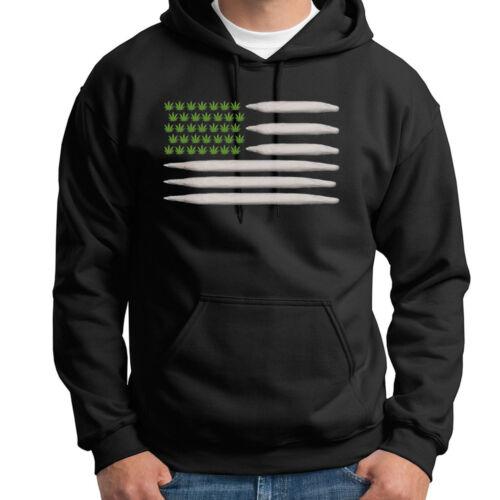 POT FLAG Joints Weed Stoner 420 T-shirt Hemp Marijuana Blunt Hoodie Sweatshirt