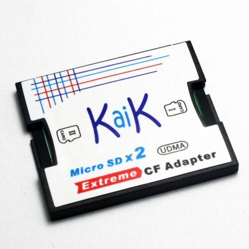 Doble ranura Microsdxc Tarjeta Para Tarjeta Cf CompactFlash I Adaptador soporte de hasta 1TB