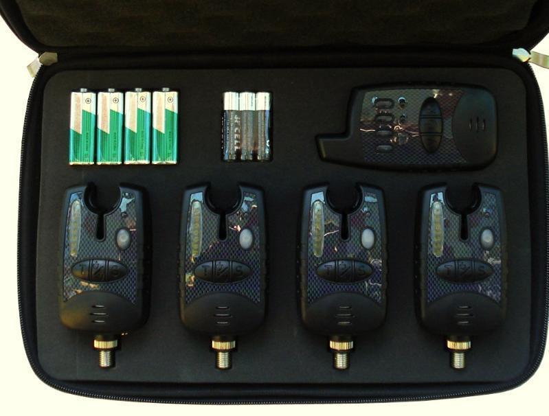 4 x Nuevo Digital Inalámbrico Alarmas Bite Para Para Para Pesca De Carpa-Correr LED, luz de noche c7cc1f