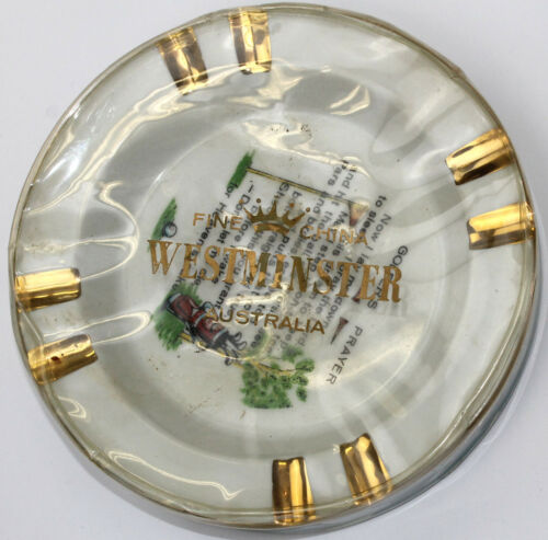 Westminister Australian ers Prayer Ashtray in Original Cover Vintage