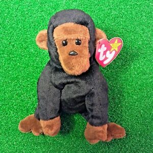 161cfb6be6b NEW Ty Beanie Baby Retired 1996 Congo The Gorilla PE - MWMT - FREE ...