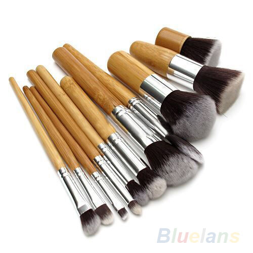 11Pcs Cosmetic Tools Sets Eyeshadow Foundation Concealer Makeup Kit Brushes B5CU