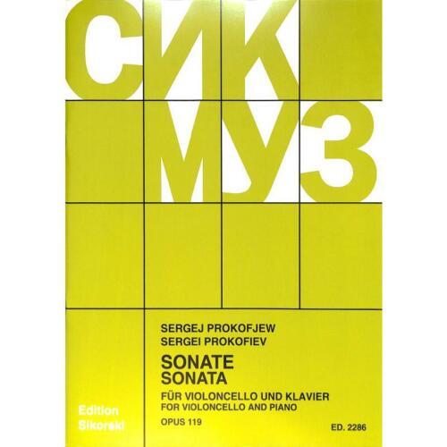 Sonate op Prokofieff Noten für Violoncello und Klavier 2286 119 Serge