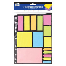 New Assorted Neon Memo Stickers Folder Pack Self Adhesive Bookmark Index Post It