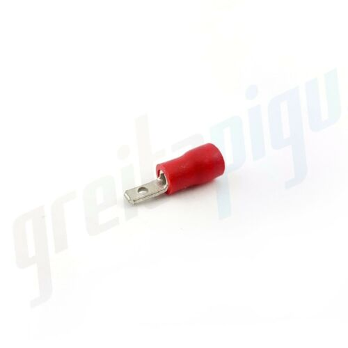 Red Insulated Male Spade Terminals Crimps Electrical Wire Connectors 10A