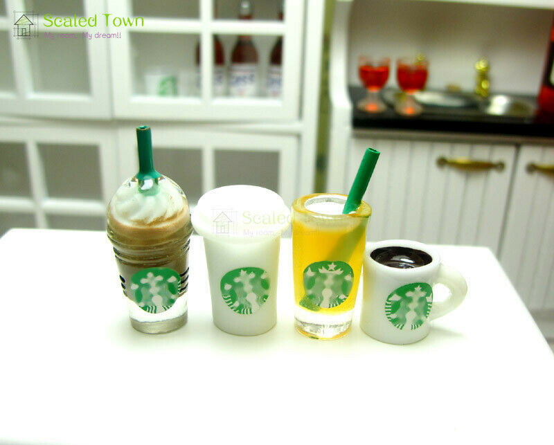 4 x different cups set
