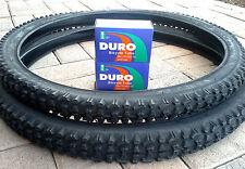 """26x2.10 DURO MOUNTAIN BIKE TIRE SET & 2-26"""" DURO INNER TUBES *BLACK"""