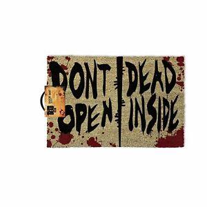 THE WALKING DEAD DONT OPEN DEAD INSIDE WELCOME DOOR MAT 60 X 40 CM COIR PVC BACK