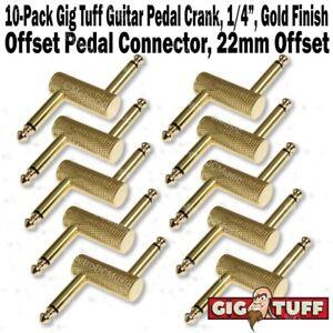 2-Pack Gig Tuff Right Angle Adaptor RCA Phono Female to 1//4 TS Mono Male Adapter
