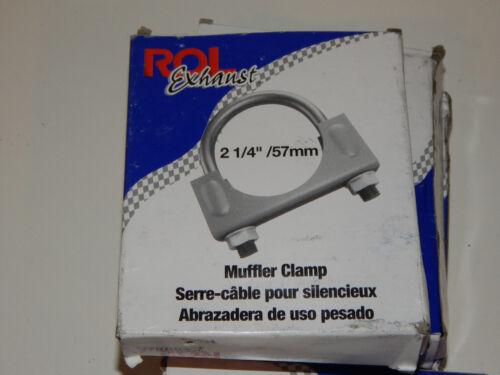 """ROL 2 1//4/"""" 57mm Heavy Duty Exhaust Muffler Clamps #517214 4"""