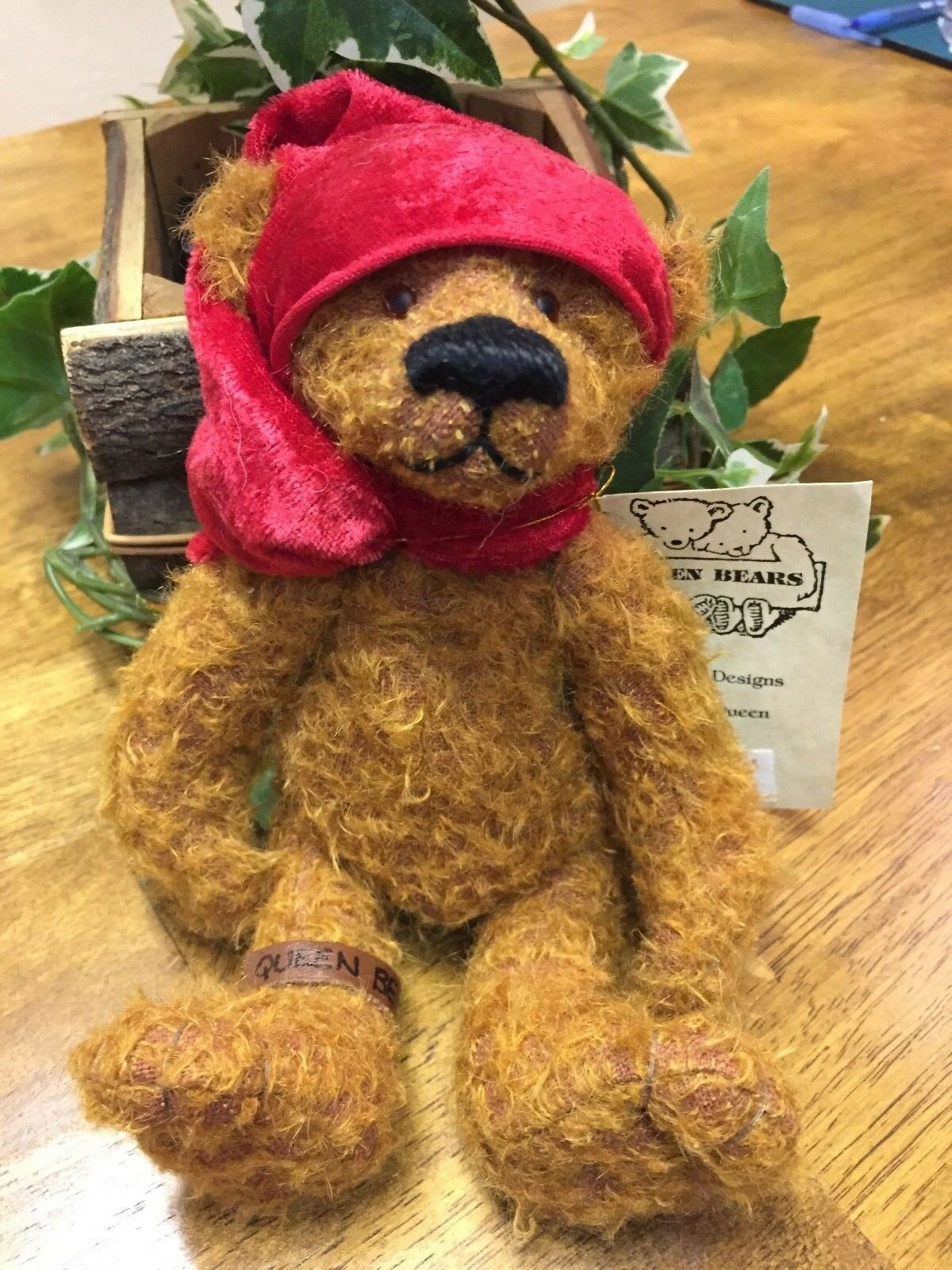 NEW Beautiful Handmade Artist Bear by Sharon Queen,  TAG