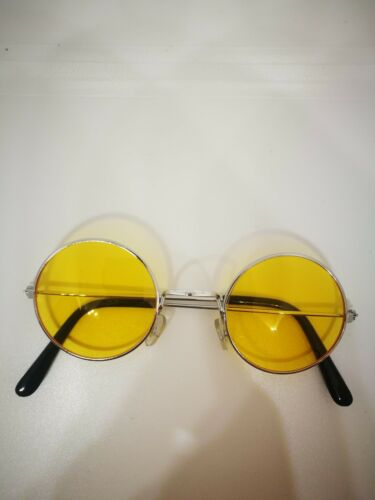 60/'s 70/'s Fancy Adult Unisex Hippie Glasses Party Costume Hippy Glasses Round