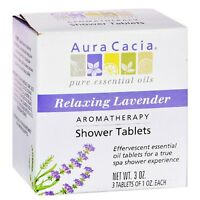 Aura Cacia Aromatherapy Shower Tablets, Relaxing Lavender 3 Ea (pack Of 7) on sale