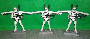 Star Wars AOTC Jet-Pack Clone Trooper Figure Lot - PHASE II 2 Armour - USED