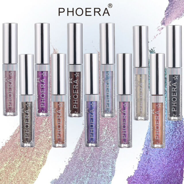 PHOERA MAGNIFICENT METALS LIQUID GLITTER EYESHADOW PALETTE COSMETIC - 18 COLOURS