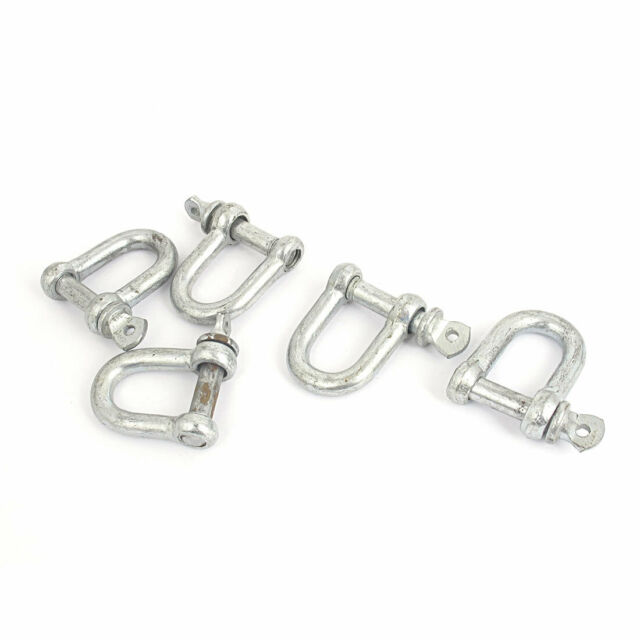 5 pc//s stainless steel D-shackle 6mm for rope