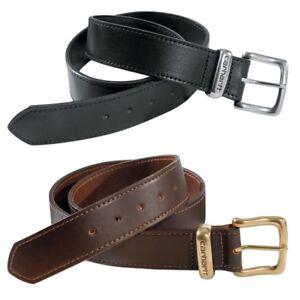 Carhartt-da-Uomo-Cintura-Jean-Men-Belt-Vero-Cuoio-Taglia-Larghezza-34-fino-44