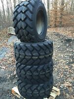 4-33x15.5-16.5 Galaxy Hulk 14 Ply Skid Steer Tires-33x15.50-16.5 -for Bobcat,etc
